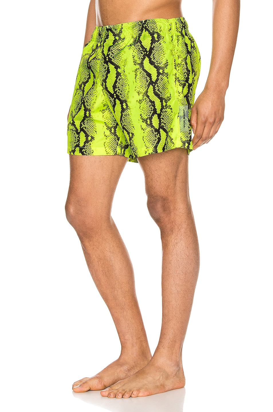 Image 3 of OFF-WHITE Snake Swimshorts in Yellow