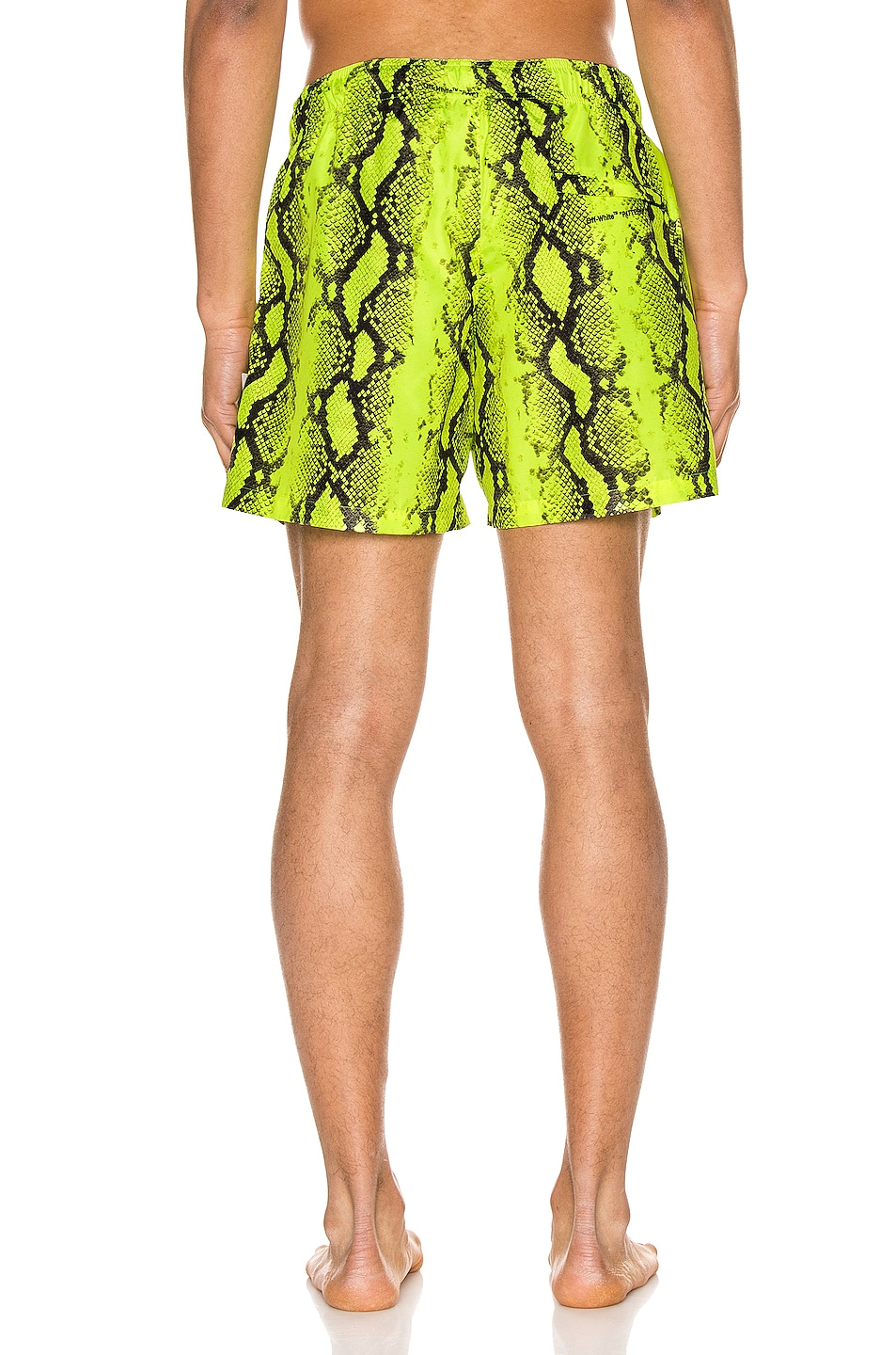 Image 4 of OFF-WHITE Snake Swimshorts in Yellow