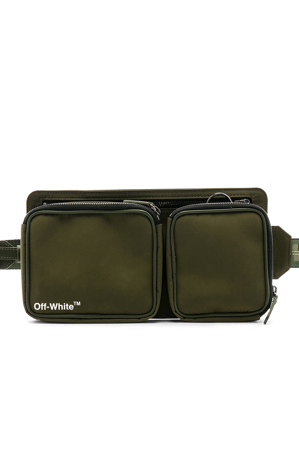 Image 1 of OFF-WHITE Hip Bag in Military Green & White