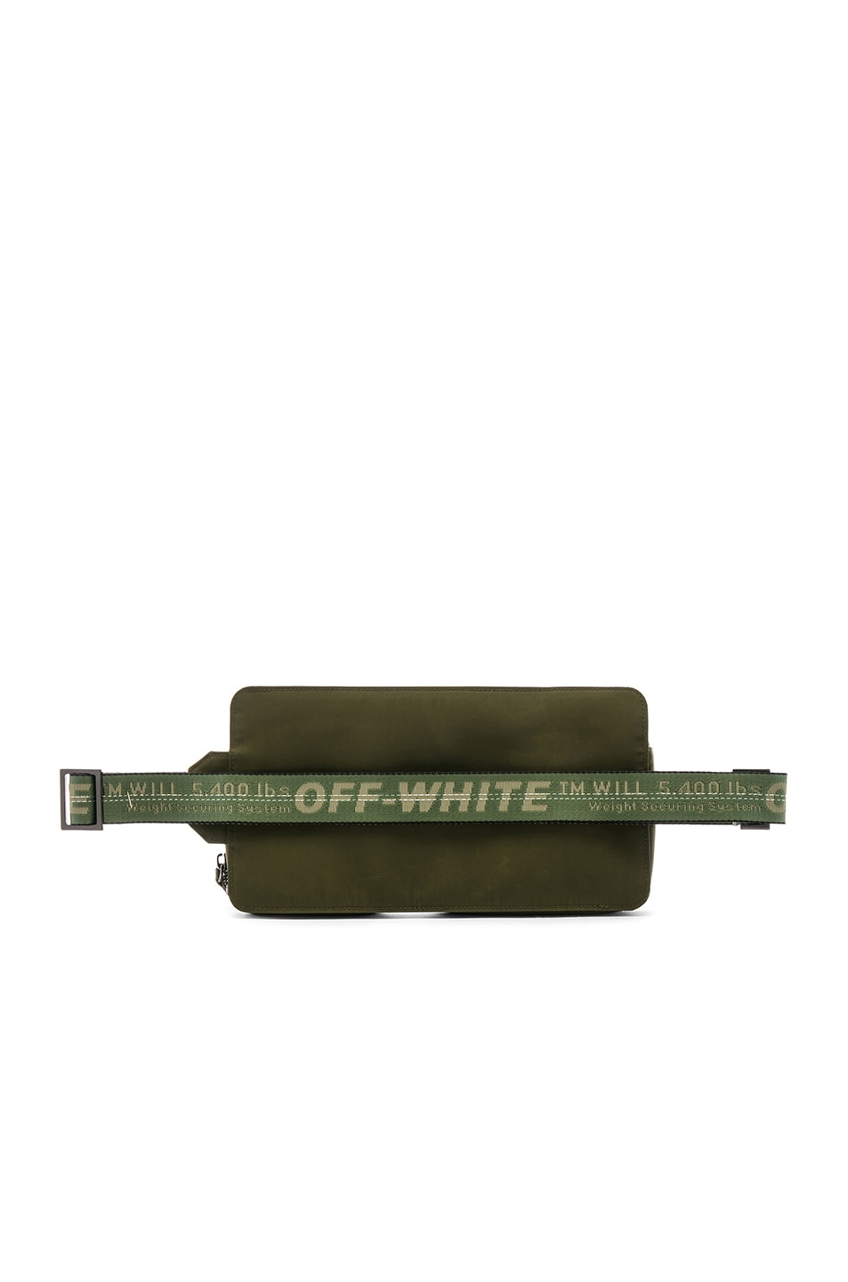 Image 3 of OFF-WHITE Hip Bag in Military Green & White