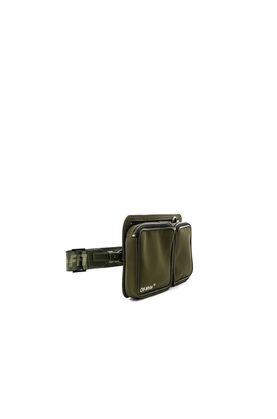 Image 4 of OFF-WHITE Hip Bag in Military Green & White