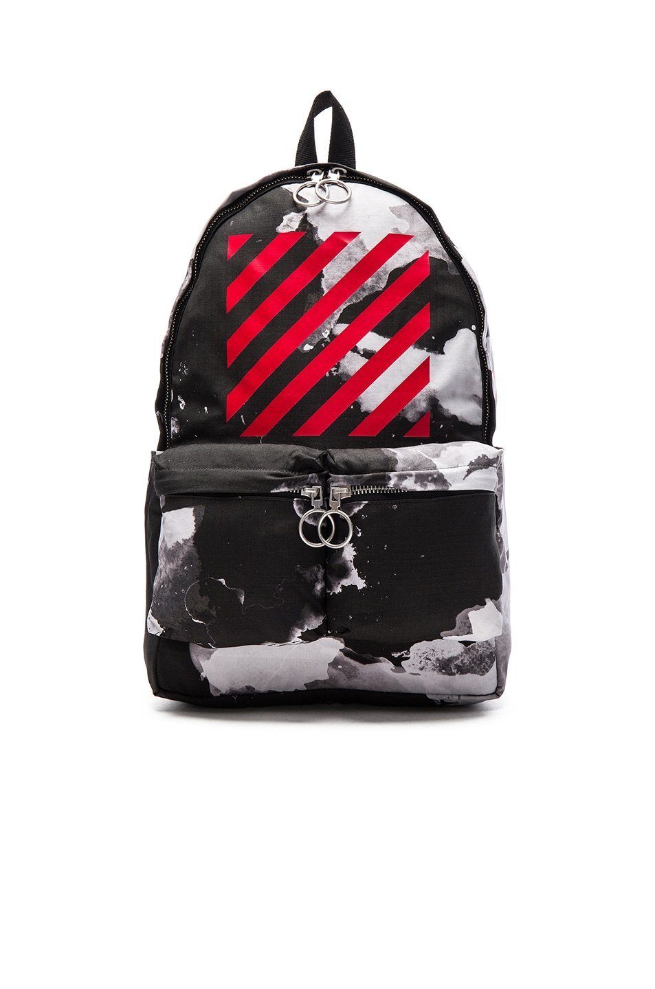Image 1 of OFF-WHITE Liquid Spots Backpack in Red Multi 5e451668310cb