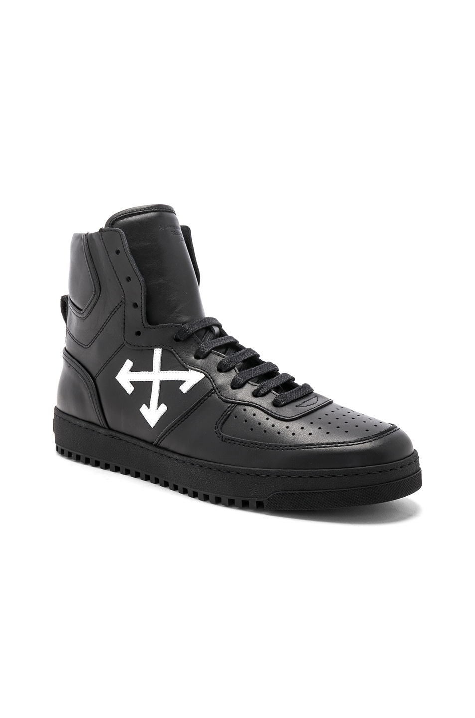 Image 1 of OFF-WHITE 70s High Top Sneakers in Black & White