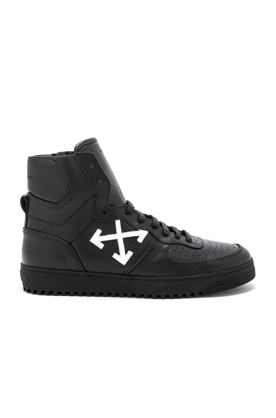 Image 2 of OFF-WHITE 70s High Top Sneakers in Black & White