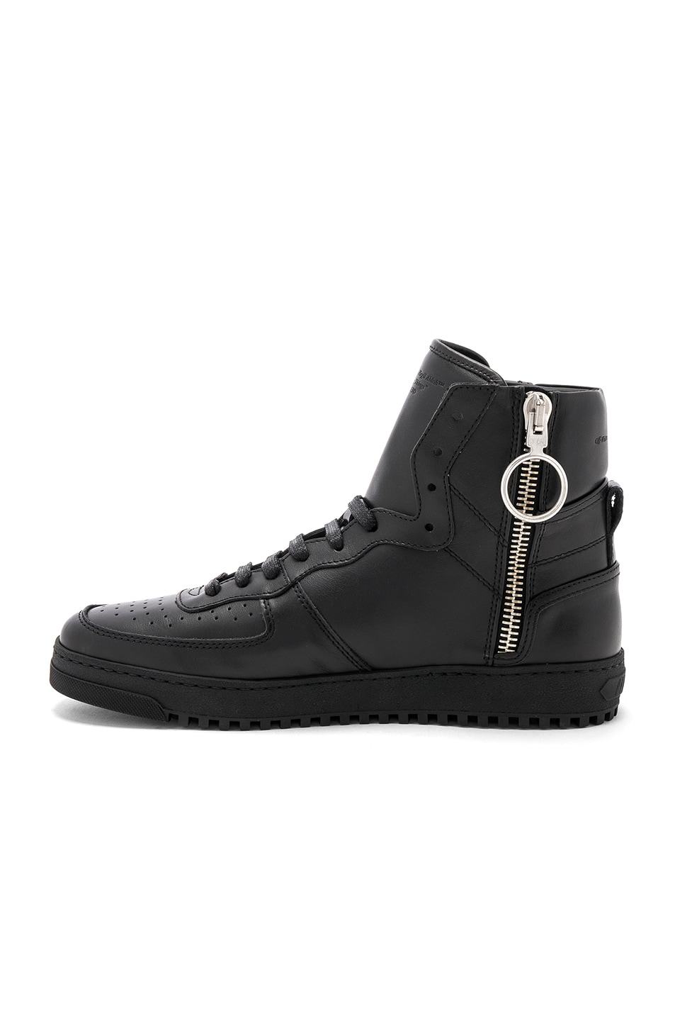 Image 5 of OFF-WHITE 70s High Top Sneakers in Black & White