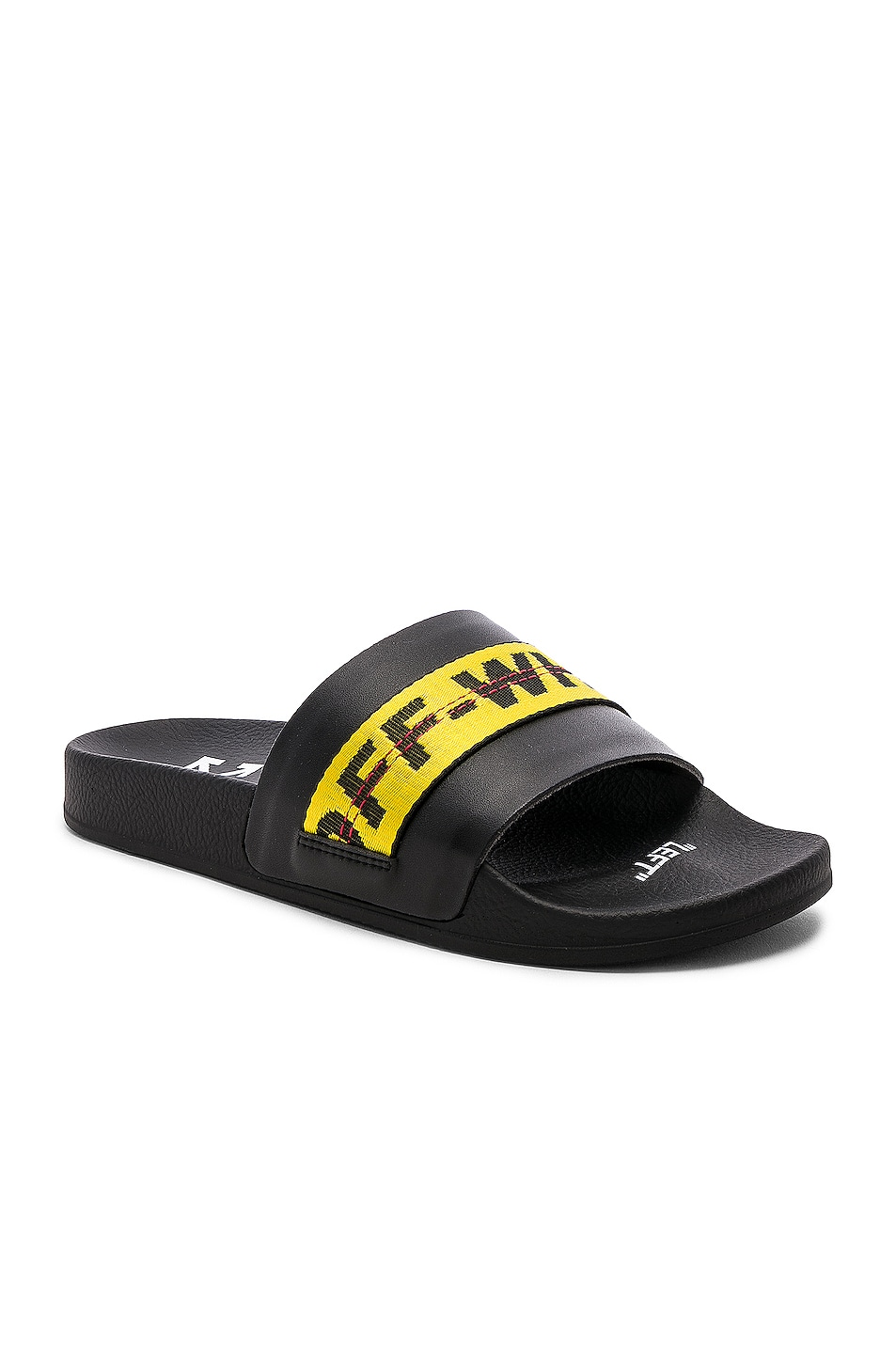 Image 1 of OFF-WHITE Industrial Belt Slide in Black & Yellow