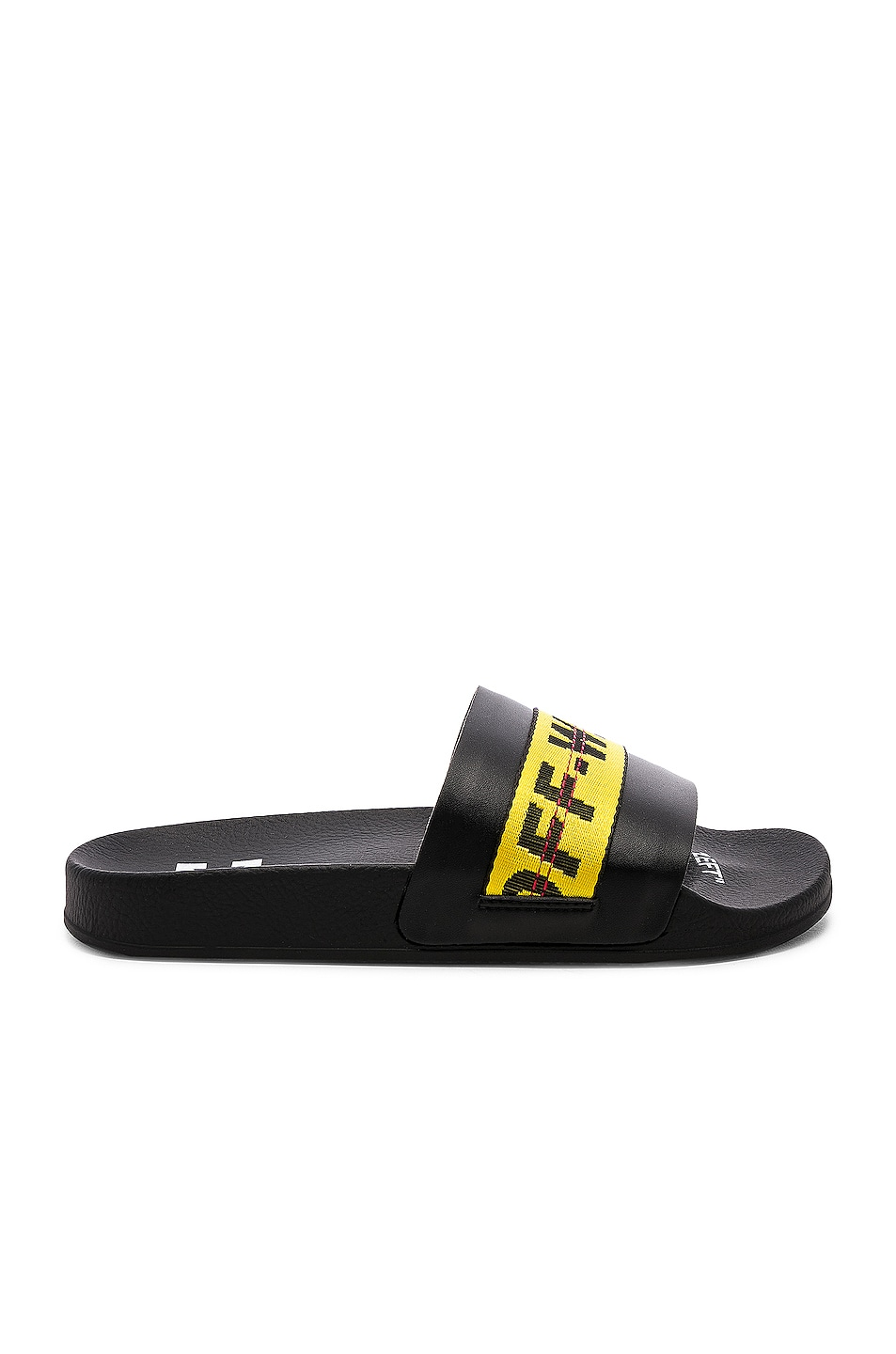 Image 2 of OFF-WHITE Industrial Belt Slide in Black & Yellow