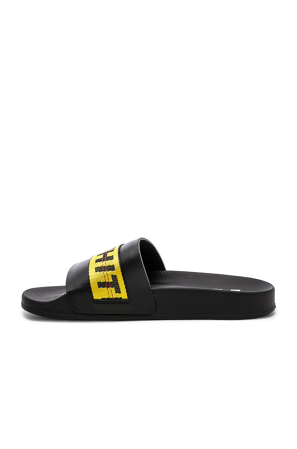 Image 4 of OFF-WHITE Industrial Belt Slide in Black & Yellow
