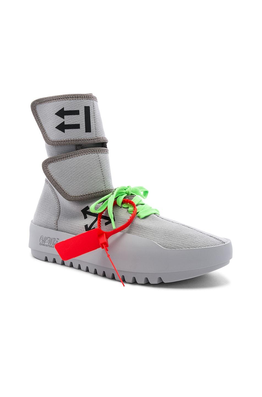 Image 1 of OFF-WHITE Moto Wrap Sneaker in Light Grey & Black