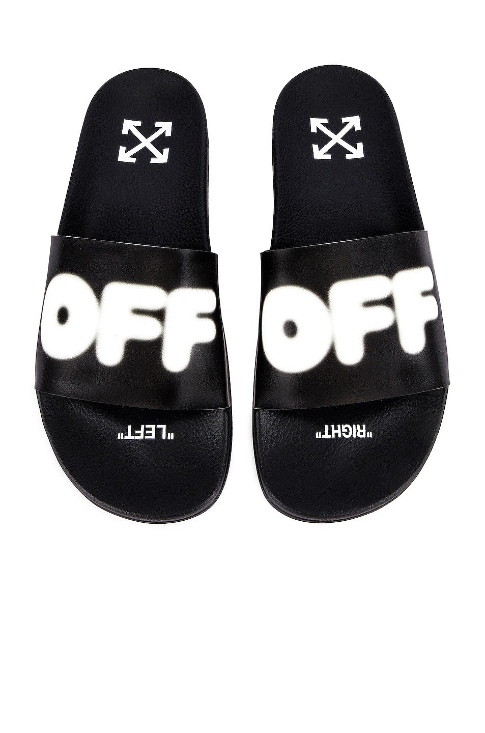 Image 4 of OFF-WHITE EXCLUSIVE Slides in Black