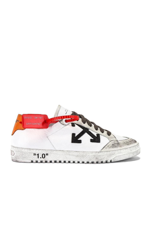 Image 2 of OFF-WHITE 2.0 Sneaker in White & Orange
