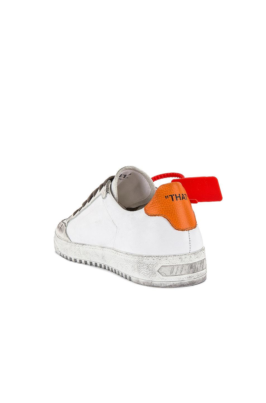 Image 3 of OFF-WHITE 2.0 Sneaker in White & Orange