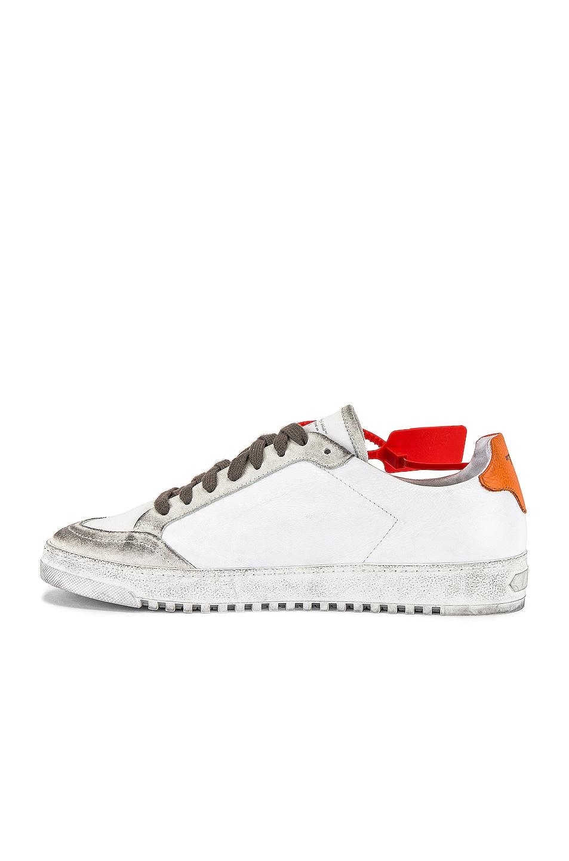 Image 5 of OFF-WHITE 2.0 Sneaker in White & Orange