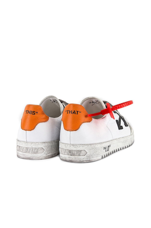 Image 6 of OFF-WHITE 2.0 Sneaker in White & Orange