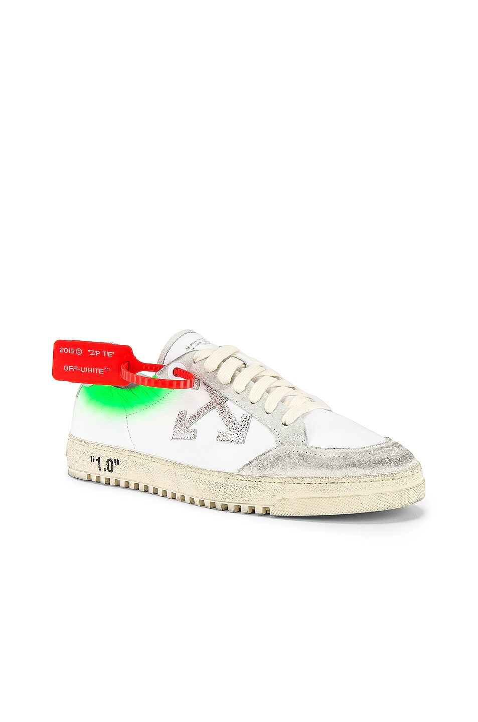 Image 1 of OFF-WHITE 2.0 Sneaker in White & Green