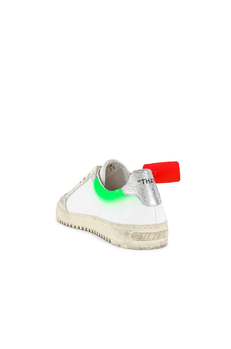 Image 3 of OFF-WHITE 2.0 Sneaker in White & Green