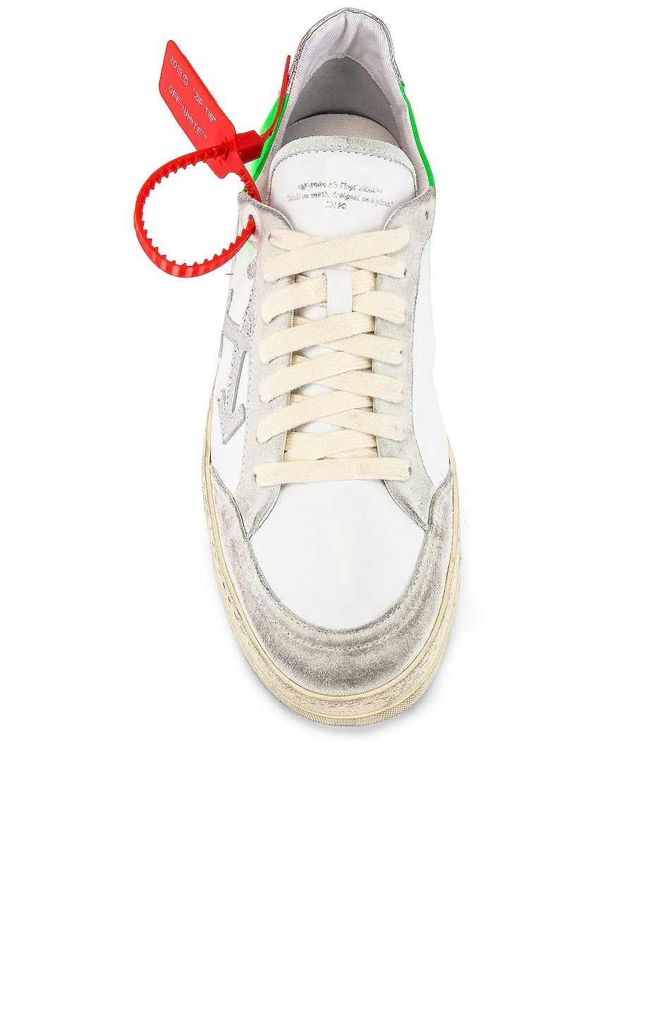 Image 4 of OFF-WHITE 2.0 Sneaker in White & Green