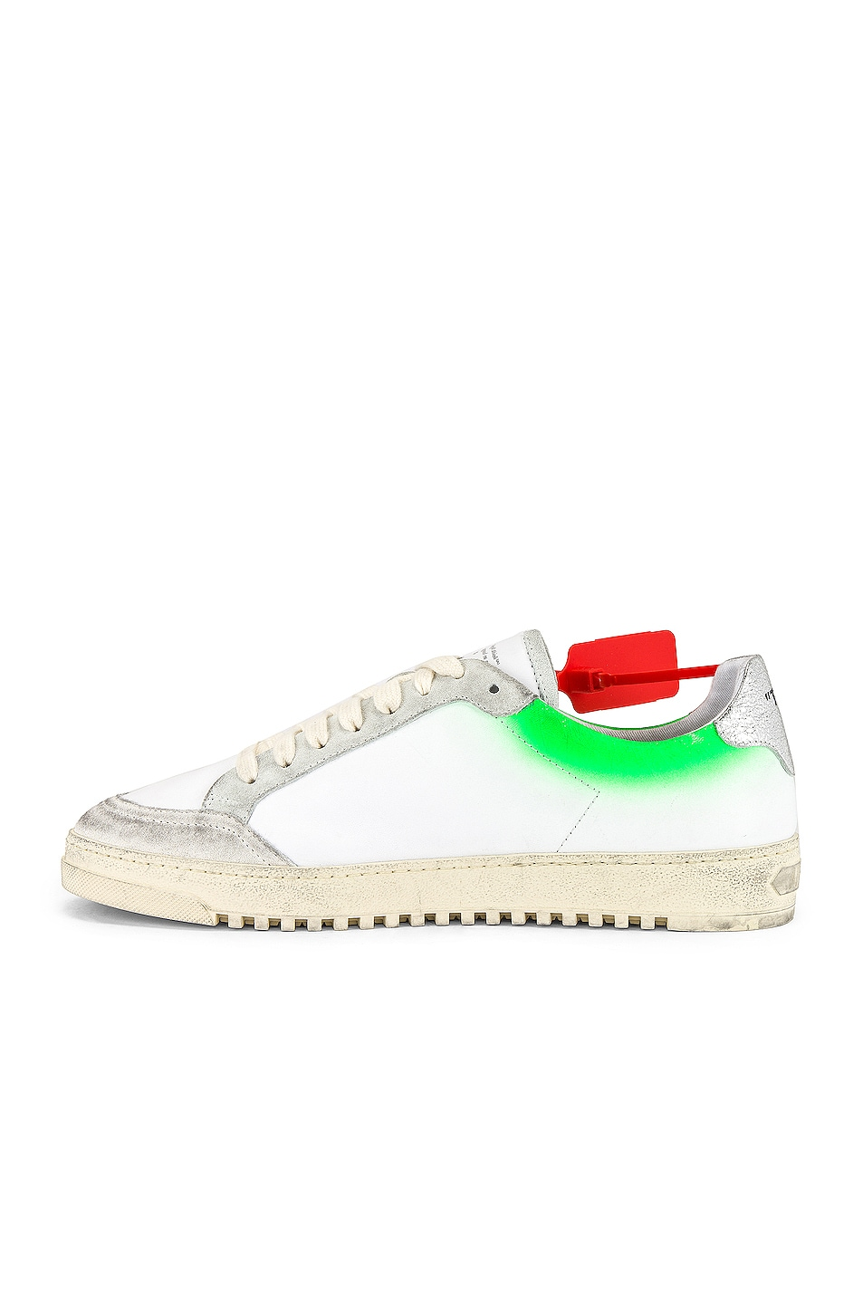 Image 5 of OFF-WHITE 2.0 Sneaker in White & Green