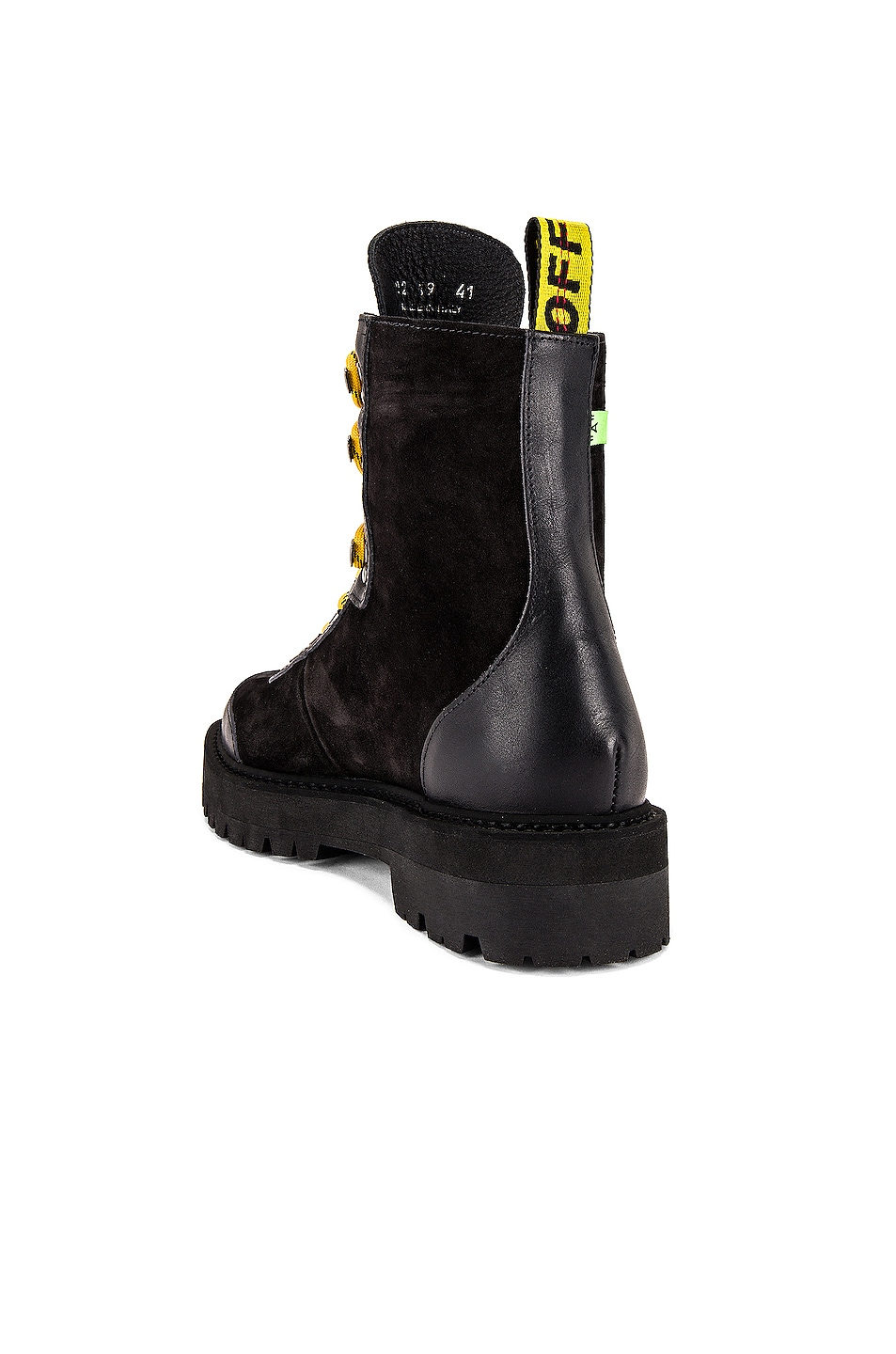 Image 3 of OFF-WHITE Hiking Boot in Black