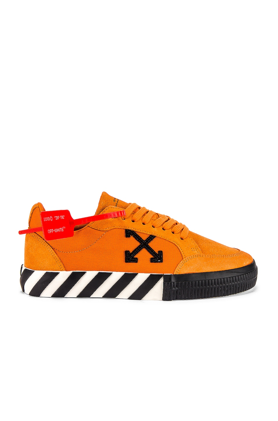 Image 2 of OFF-WHITE Low Vulcanized Sneaker in Orange & Black