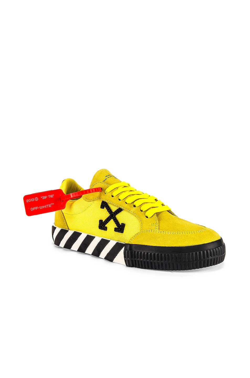 Image 1 of OFF-WHITE Low Vulcanized Sneaker in Yellow & Black