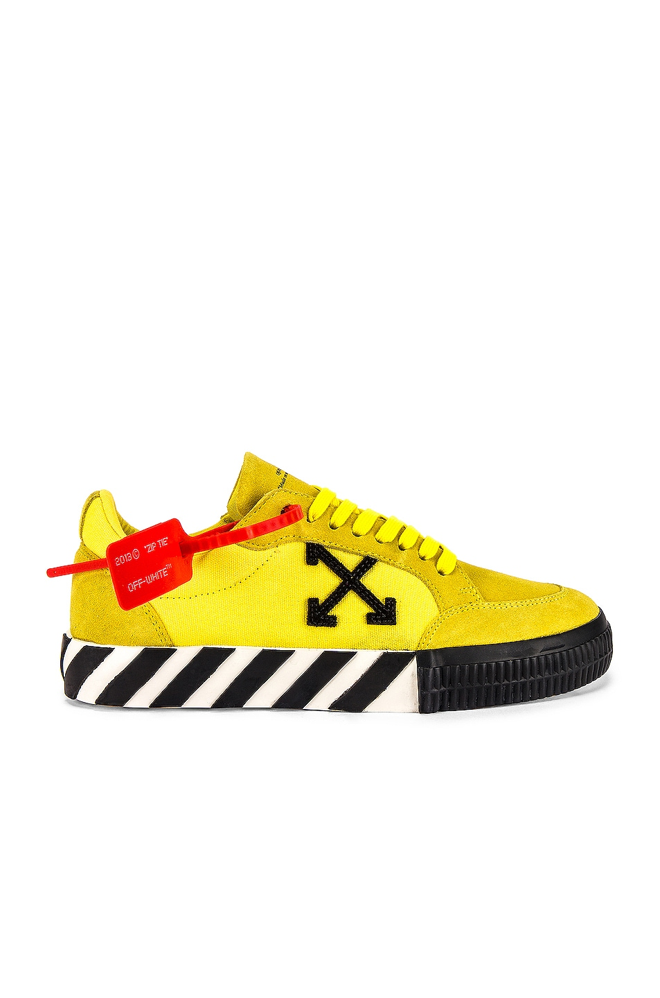 Image 2 of OFF-WHITE Low Vulcanized Sneaker in Yellow & Black