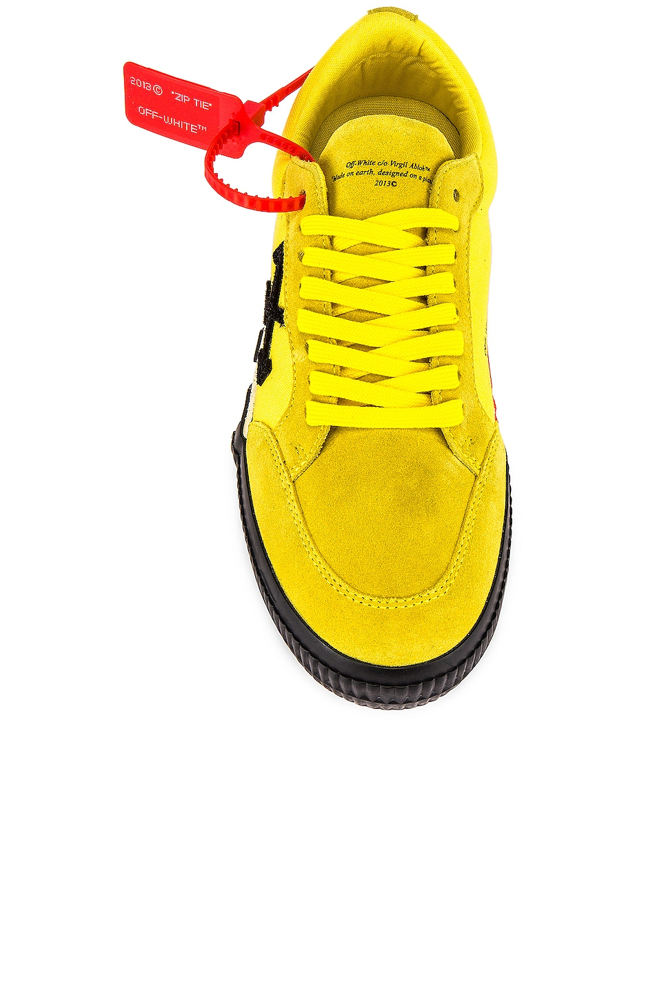Image 4 of OFF-WHITE Low Vulcanized Sneaker in Yellow & Black
