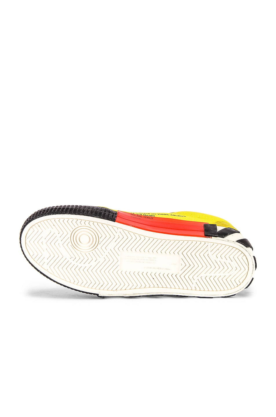 Image 6 of OFF-WHITE Low Vulcanized Sneaker in Yellow & Black