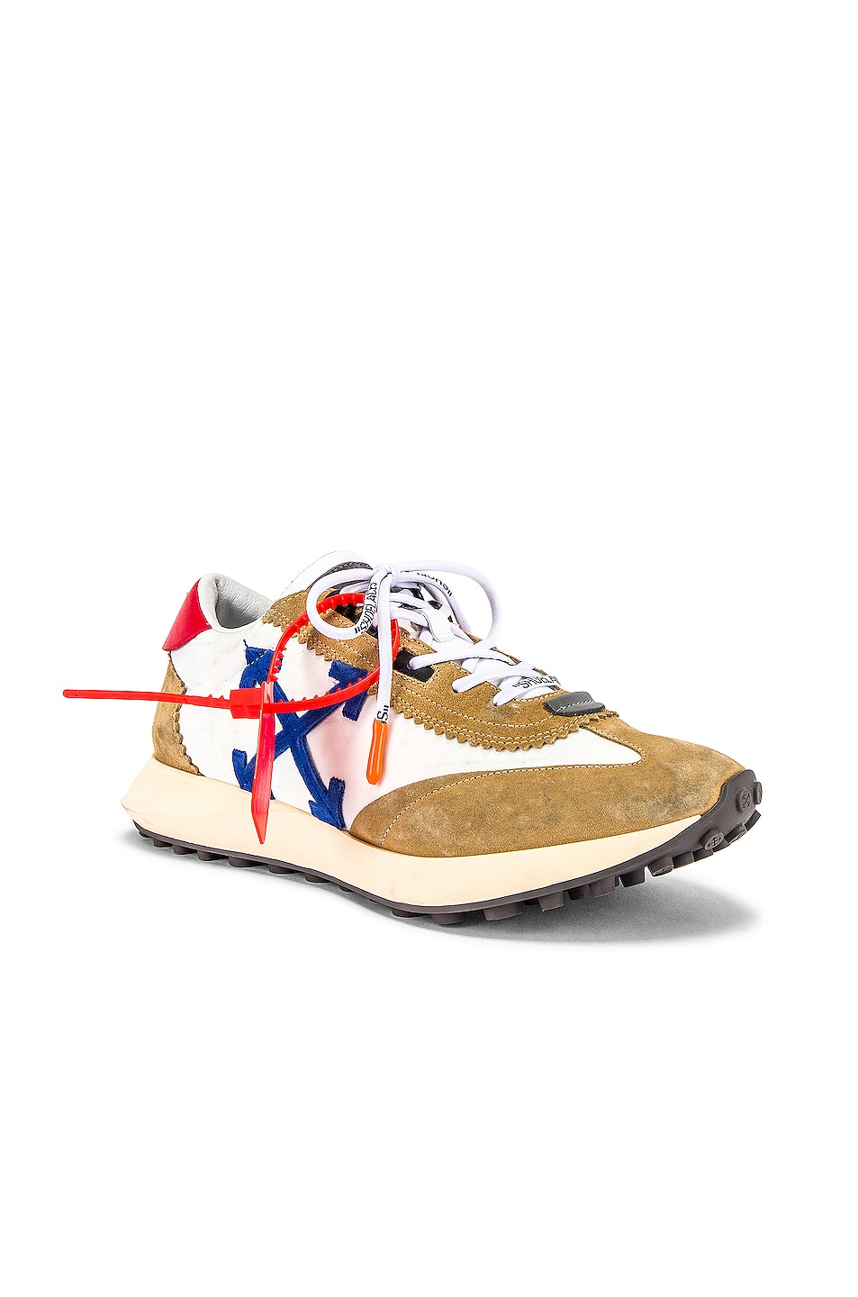 Image 1 of OFF-WHITE Running Sneakers in White & Blue