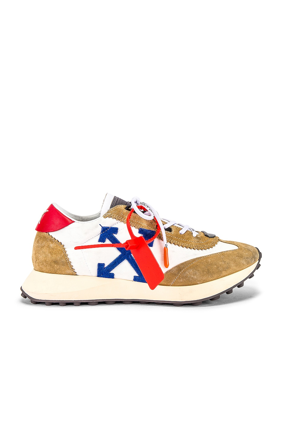 Image 2 of OFF-WHITE Running Sneakers in White & Blue