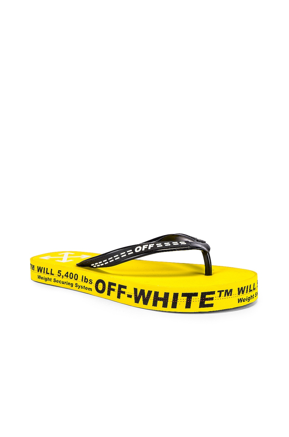 Image 1 of OFF-WHITE Flip Flop in Yellow