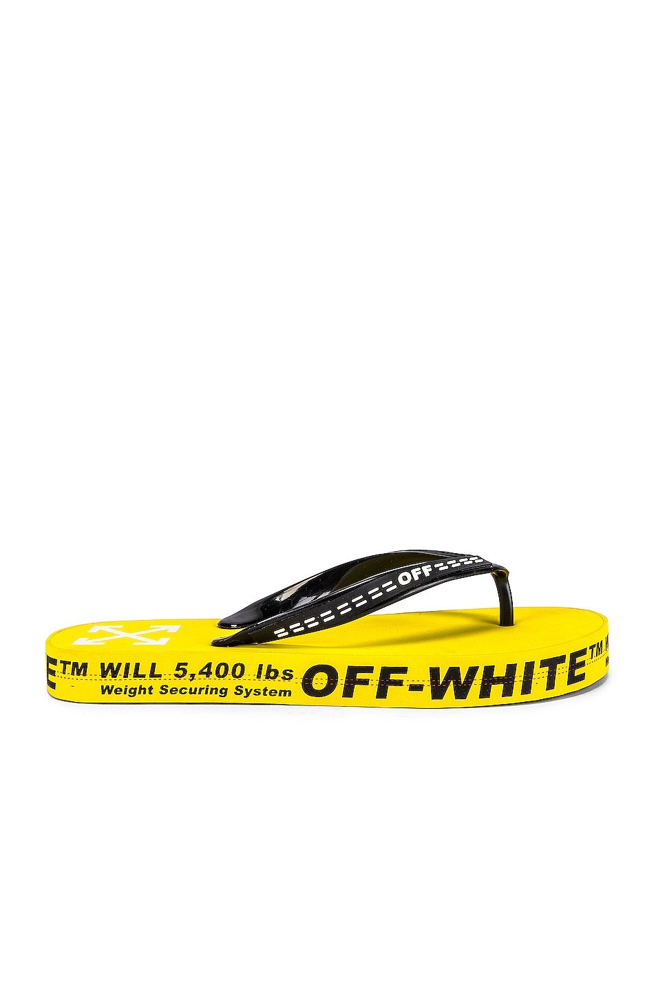 Image 2 of OFF-WHITE Flip Flop in Yellow