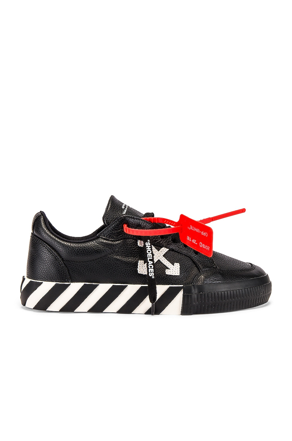 Image 2 of OFF-WHITE Low Vulcanized Sneaker in Black & White