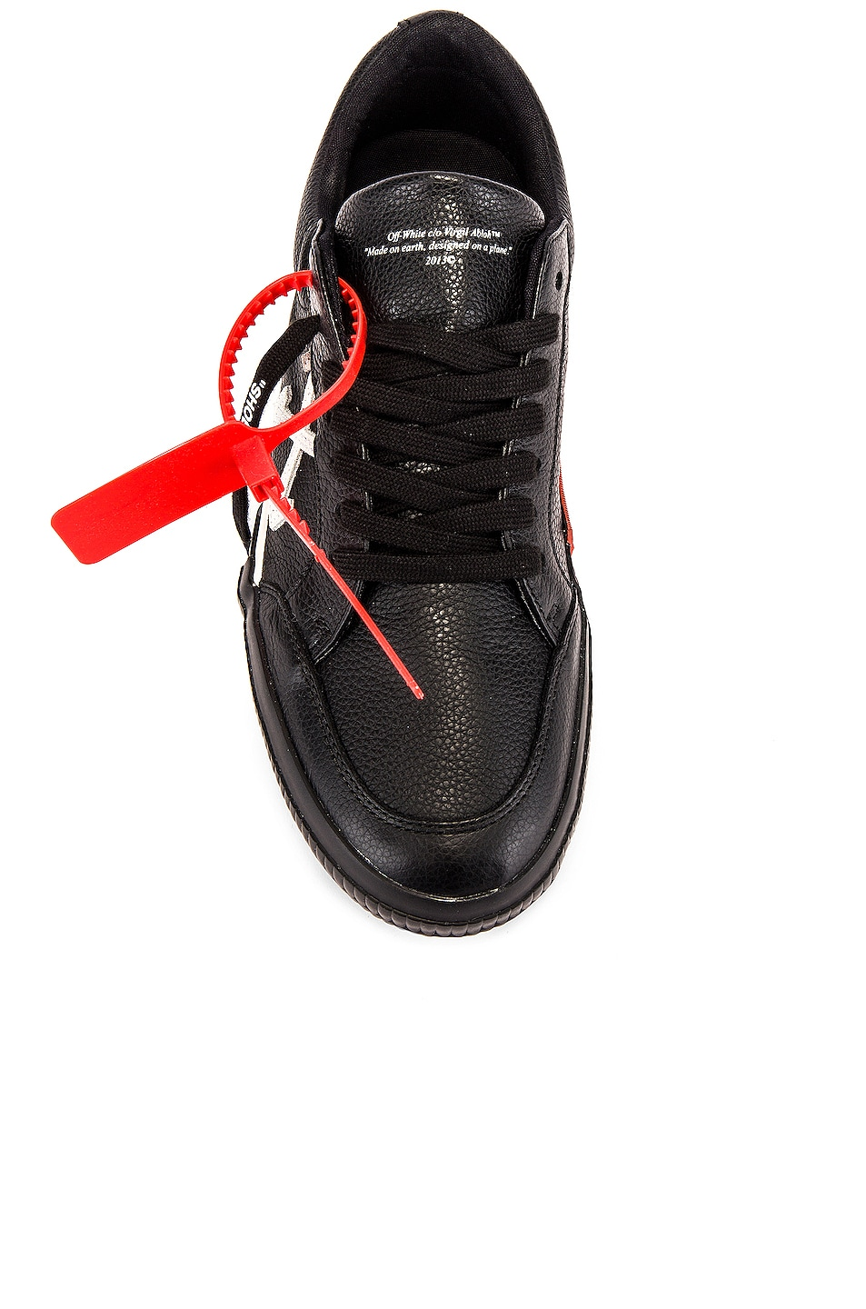 Image 4 of OFF-WHITE Low Vulcanized Sneaker in Black & White