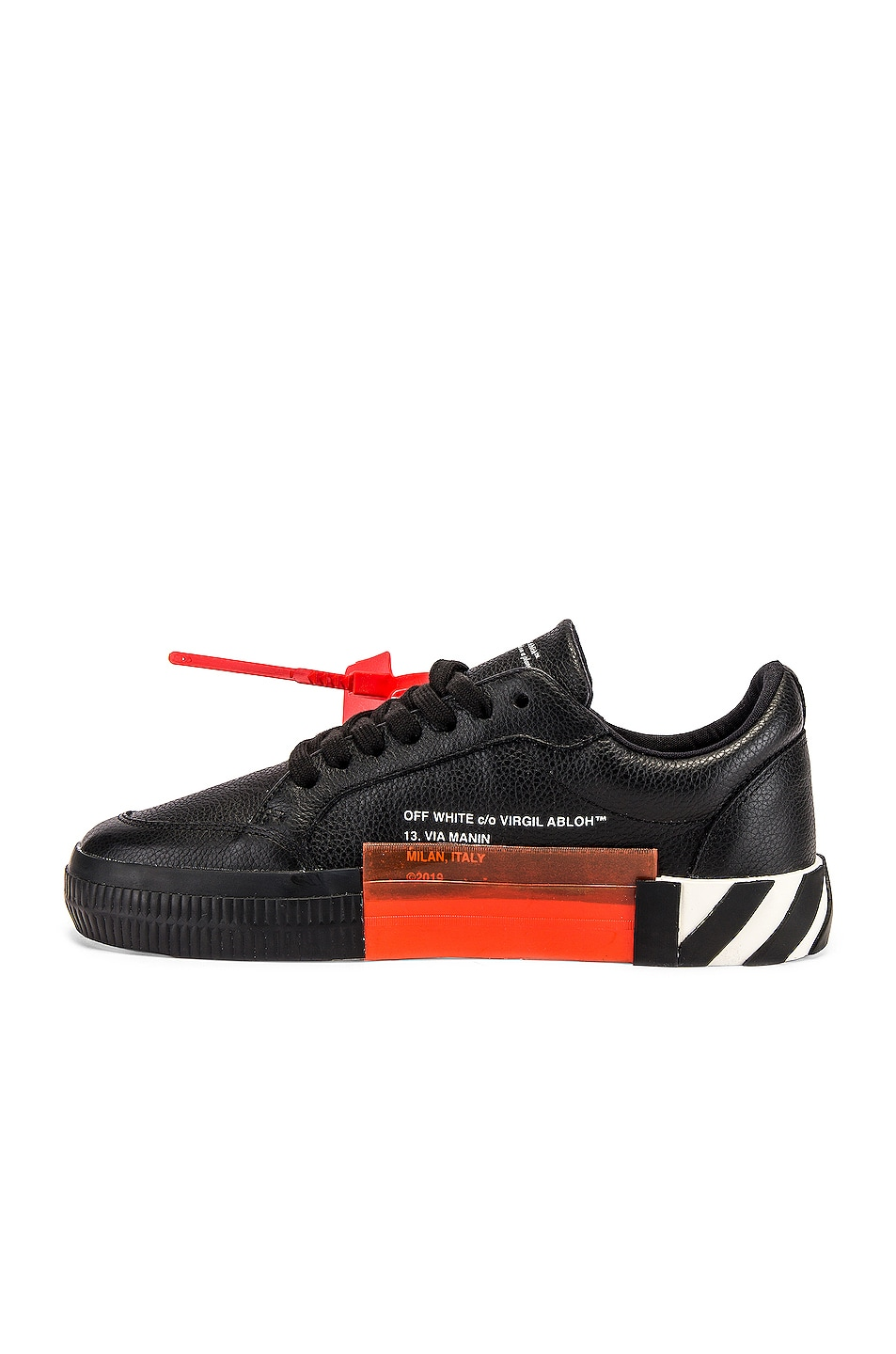 Image 5 of OFF-WHITE Low Vulcanized Sneaker in Black & White