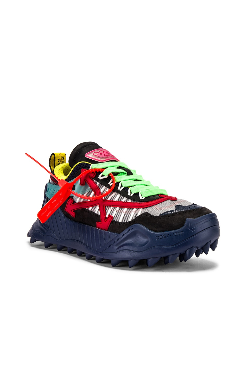 Image 1 of OFF-WHITE Odsy-1000 Sneaker in Blue & Red