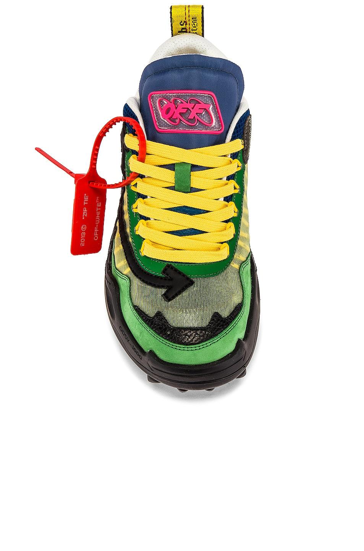 Image 4 of OFF-WHITE Odsy-1000 Sneaker in Dark Green & Black