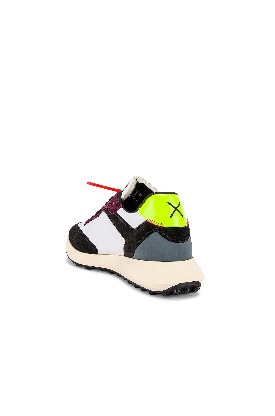 Image 3 of OFF-WHITE Arrow Sneakers in White & Fuchsia