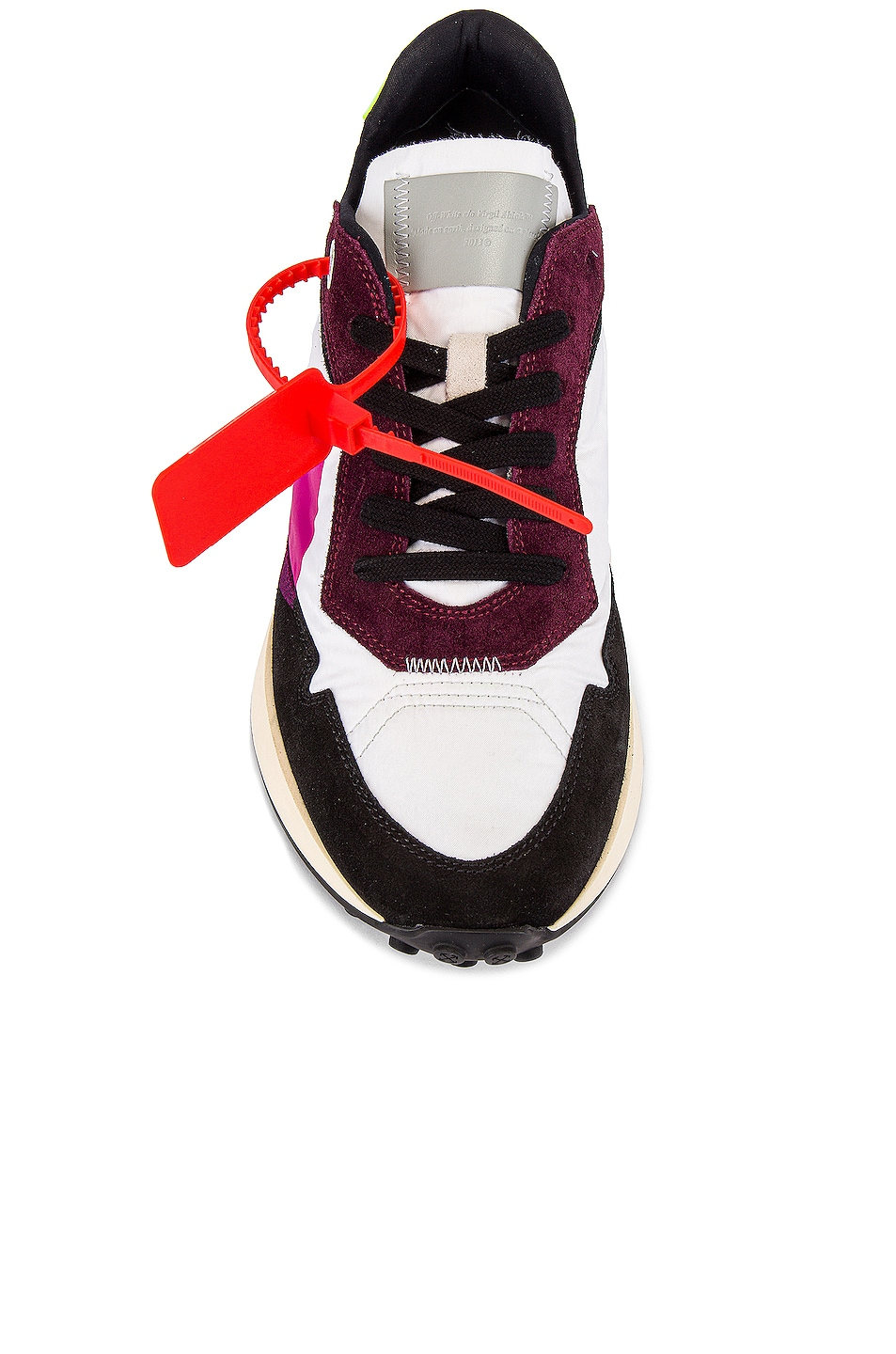 Image 4 of OFF-WHITE Arrow Sneakers in White & Fuchsia