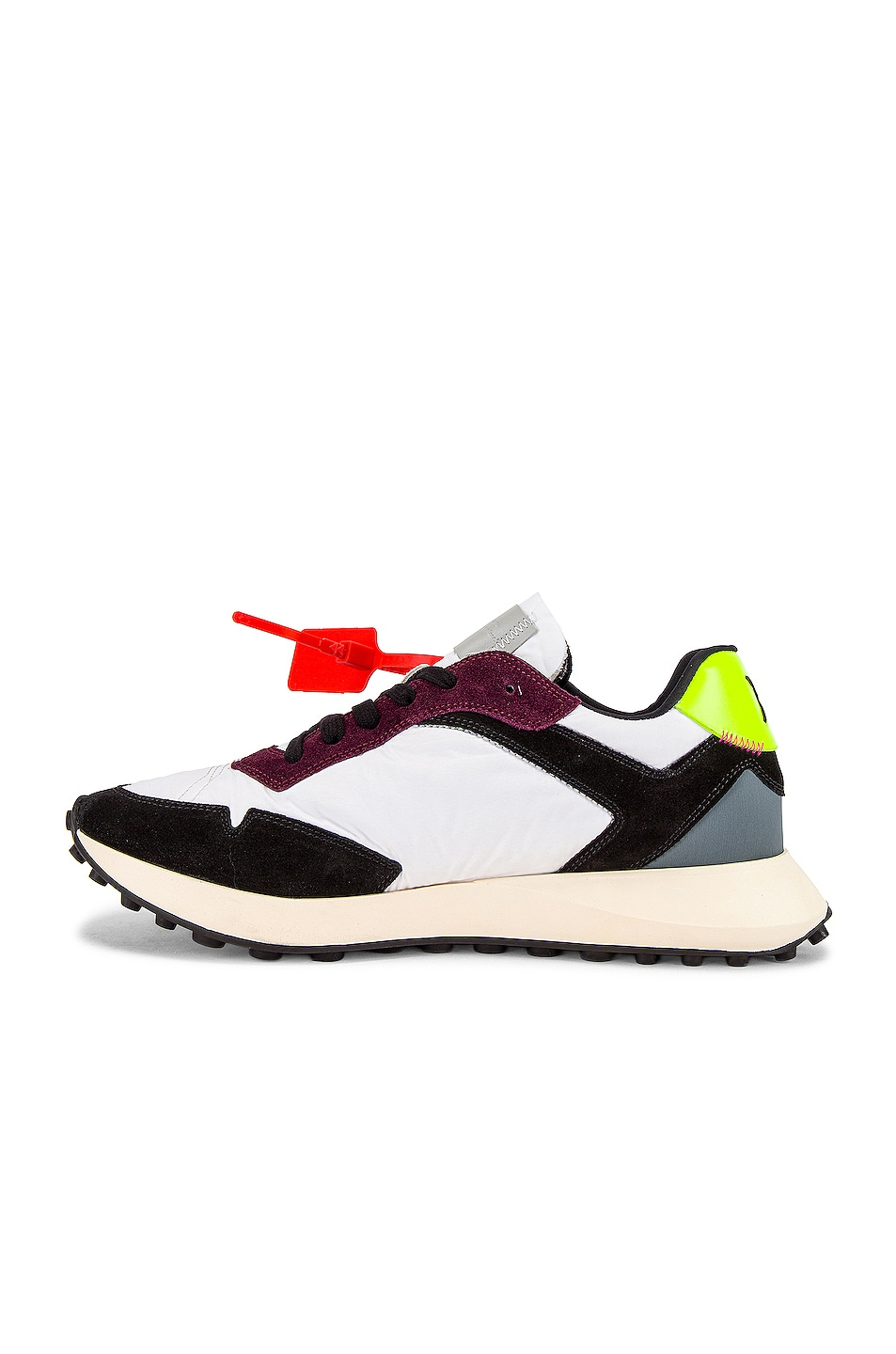 Image 5 of OFF-WHITE Arrow Sneakers in White & Fuchsia