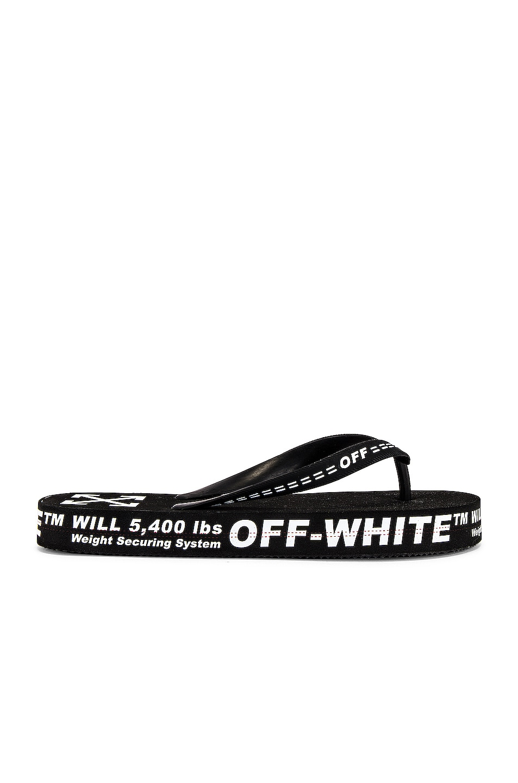 Image 2 of OFF-WHITE Flip Flop in Black