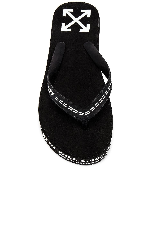 Image 4 of OFF-WHITE Flip Flop in Black