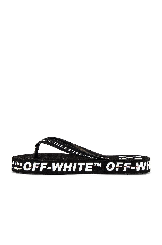 Image 5 of OFF-WHITE Flip Flop in Black