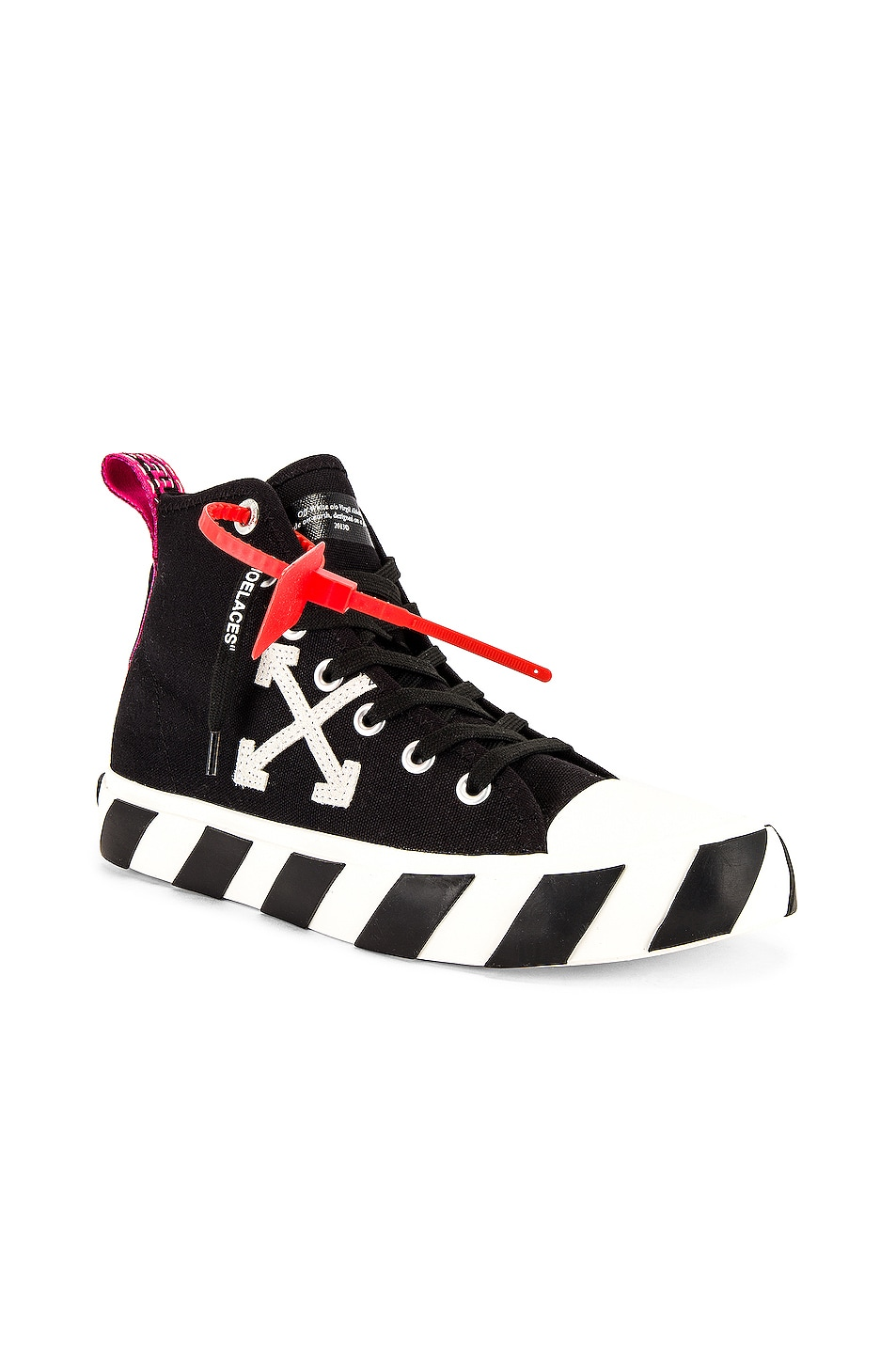 Image 1 of OFF-WHITE Mid Top Sneaker in Black & White