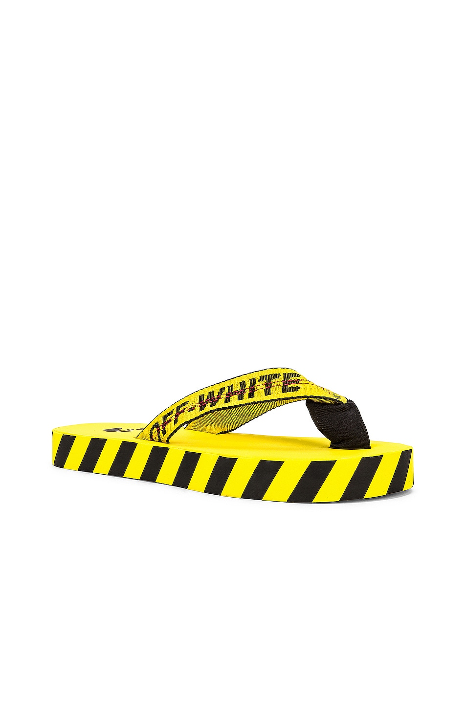 Image 1 of OFF-WHITE Flip Flop in Yellow & Black