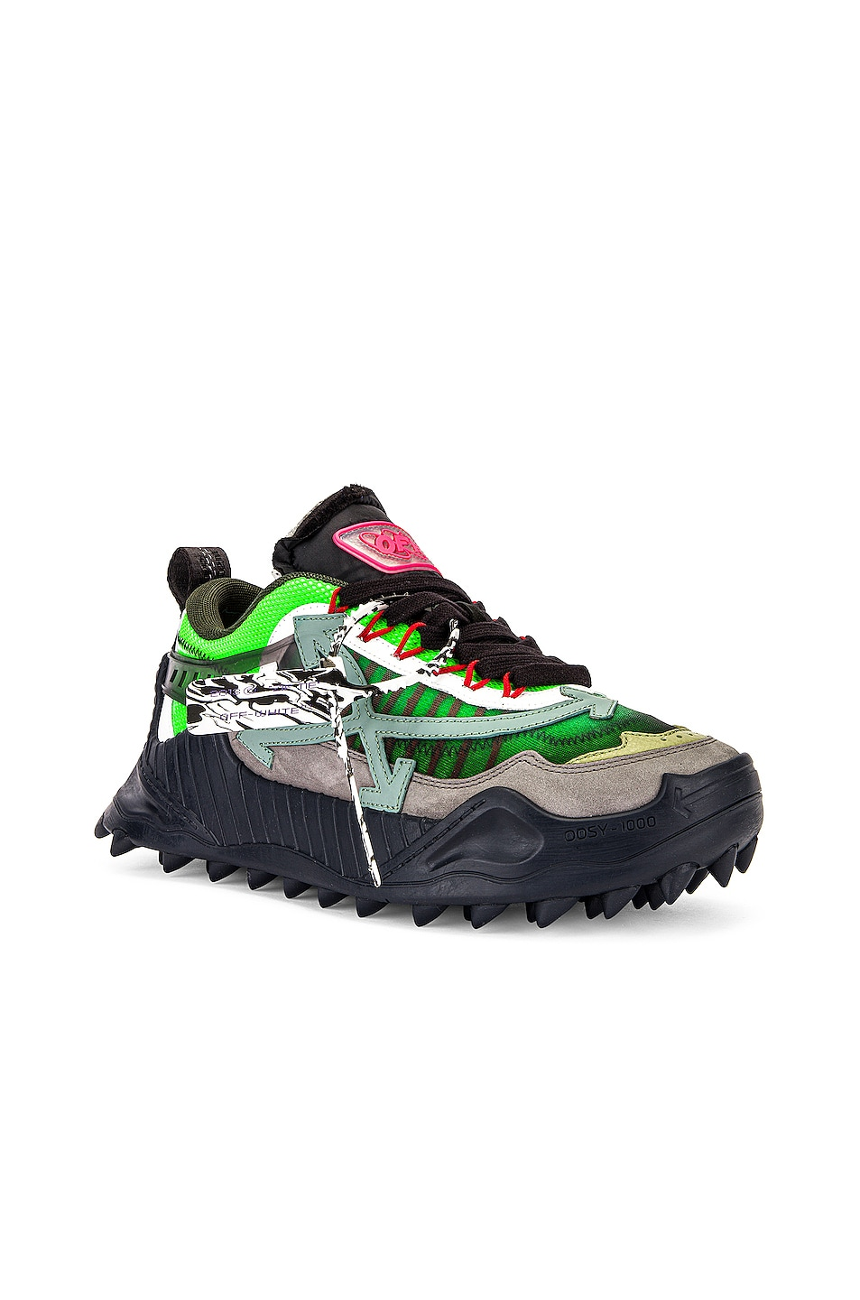 Image 1 of OFF-WHITE Odsy-1000 Sneaker in Anthracite & Green