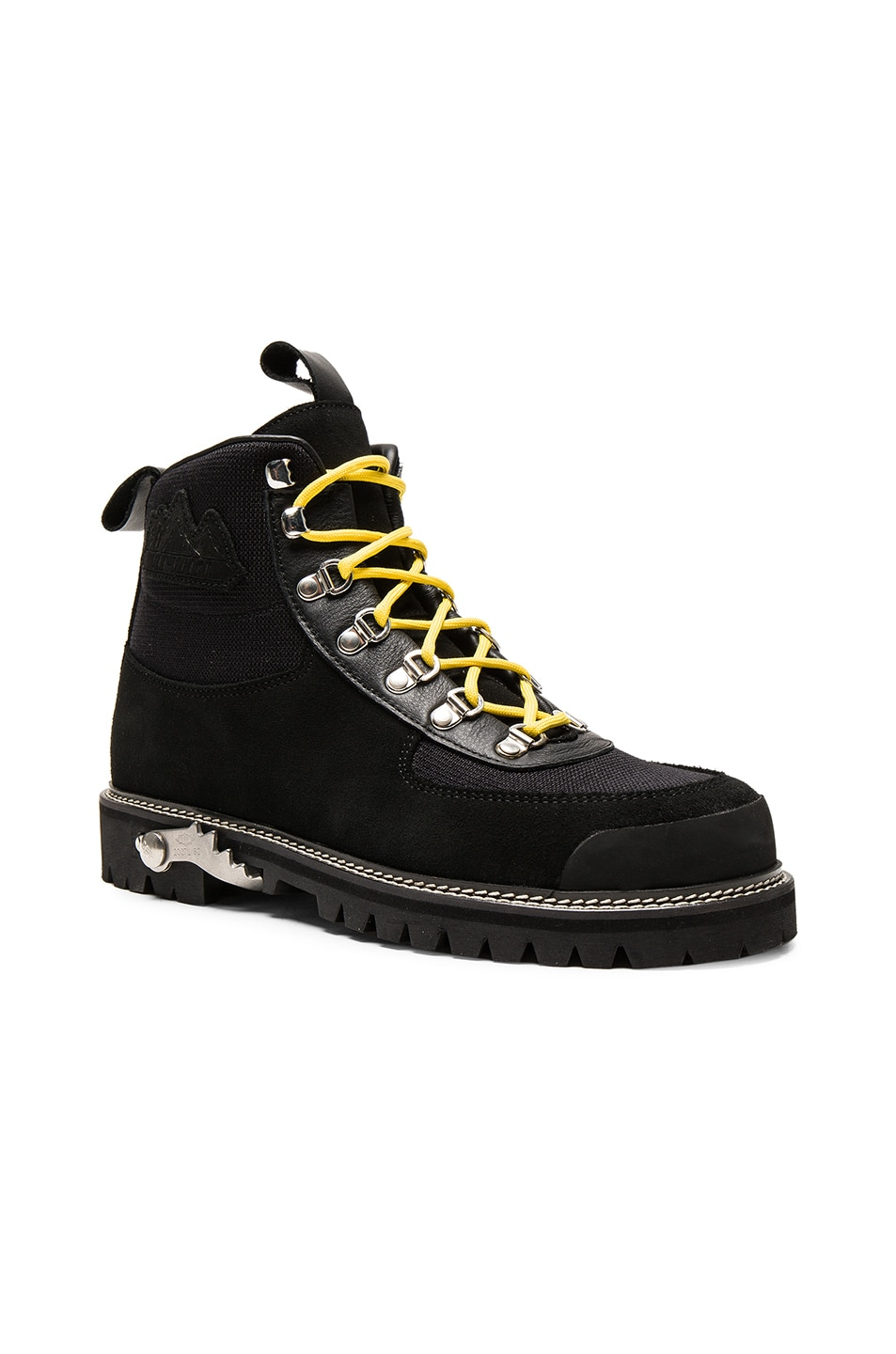 0fd9a30fd31 OFF-WHITE Hiking Suede Cordura Boots in Black | FWRD