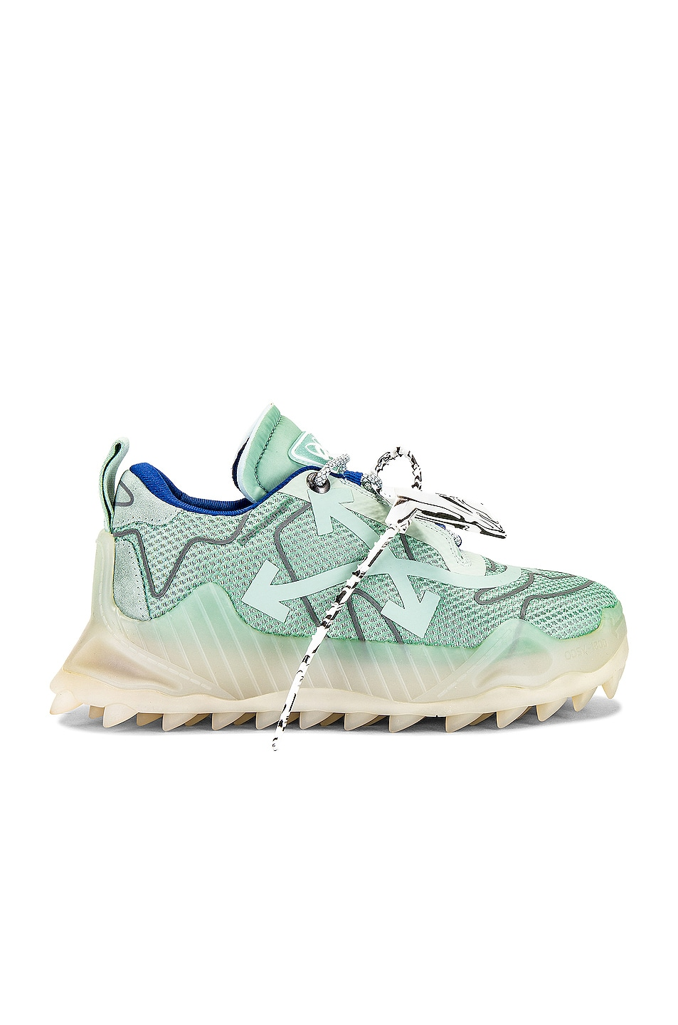 Image 1 of OFF-WHITE Odsy Mesh in Mint & Silver