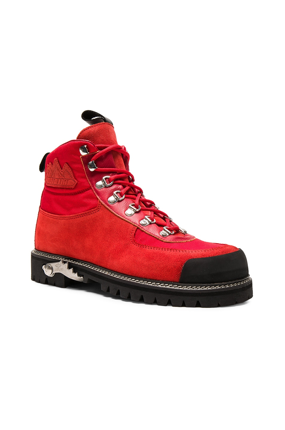 Image 1 of OFF-WHITE Hiking Suede Cordura Boots in Red