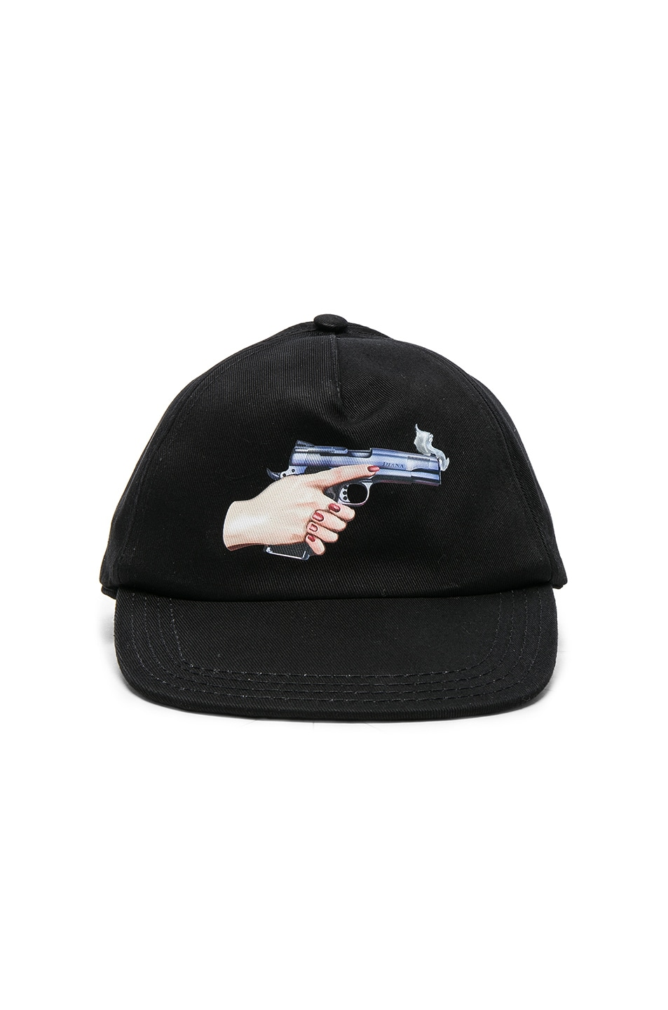 Image 1 of OFF-WHITE Hand Gun Baseball Cap in Black & Multi